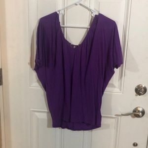 Purple tee with lace back